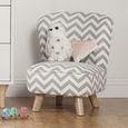 Pop Mini Chair: Chevron Grey