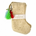 Samll Gift Stocking with Gold Stars
