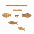 school of fish classic bamboo mobile
