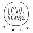 WALL STICKERS: LOVE ALWAYS