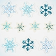 Window Stickers: Icy Flakes