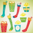 Window Stickers: Stockings & Gifts