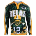 Aaron Rodgers #12 (Green Bay Packers) NFL Player Poly Hoody