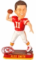 Alex Smith (Kansas City Chiefs) Forever Collectibles 2014 NFL Springy Logo Base Bobblehead