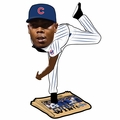 Aroldis Chapman (Chicago Cubs) 2016 World Series Champions Newspaper Base Bobble Head by Forever Collectibles