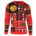 Atlanta Hawks NBA Patches Ugly Sweater by Klew