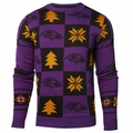 Baltimore Ravens 2016 Patches NFL Ugly Crew Neck Sweater by Forever Collectibles