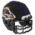 Baltimore Ravens NFL 3D Helmet BRXLZ Puzzle By Forever Collectibles