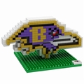 Baltimore Ravens NFL 3D Logo BRXLZ Puzzle By Forever Collectibles