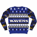 Baltimore Ravens NFL Ugly Sweater Wordmark