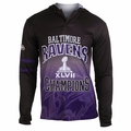 Baltimore Ravens Super Bowl XLVII Champions Poly Hoody Tee