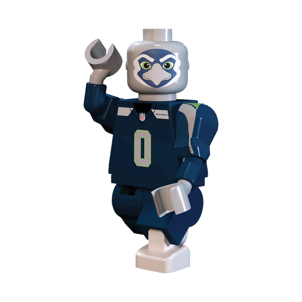 Seattle Seahawks Blitz Oyo Sports Player Minifigure