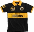 Boston Bruins NHL Cotton Wordmark Rugby Short Sleeve Polo Shirt