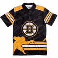 Boston Bruins NHL Polyester Short Sleeve Thematic Polo Shirt