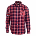 Boston Red Sox Wordmark Mens Long Sleeve Flannel Shirt