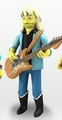 "Brad Whitford (Aerosmith) The Simpsons 25th Anniversary 5"" Action Figure Series 4 NECA"