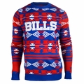Buffalo Bills Aztec NFL Ugly Crew Neck Sweater
