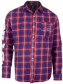 Buffalo Bills Wordmark Mens Long Sleeve Flannel Shirt