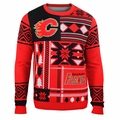 Calgary Flames NHL Patches Ugly Sweater by Klew
