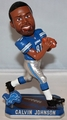 Calvin Johnson (Detroit Lions) Forever Collectibles 2014 NFL Springy Logo Base Bobblehead