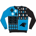 Carolina Panthers NFL Ugly Sweater Busy Block