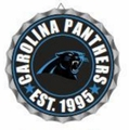 Carolina Panthers NFL Wall Decor Bottlecap Collection by Forever Collectibles