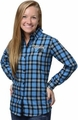 Carolina Panthers NFL 2016 Women's Wordmark Long Sleeve Flannel Shirt