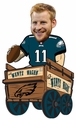 Carson Wentz (Philadelphia Eagles) Wentz Wagon Bobble Head by Forever Collectibles