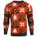 Chicago Bears 2016 Patches NFL Ugly Crew Neck Sweater by Forever Collectibles