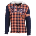 Chicago Bears NFL Flannel Hooded Jacket by Klew