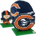 Chicago Bears NFL 3D BRXLZ Puzzle Set By Forever Collectibles