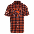 Chicago Bears NFL Colorblock Short Sleeve Flannel