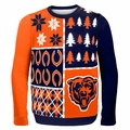 Chicago Bears NFL Ugly Sweater Busy Block