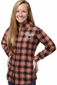 Chicago Bears NFL 2016 Women's Wordmark Long Sleeve Flannel Shirt