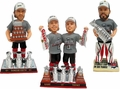 Chicago Blackhawks Exclusive Set (3) Real Fabric T-Shirts 2015 Stanley Cup Champions BobbleHeads #/500