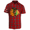 Chicago Blackhawks NHL Colorblock Short Sleeve Flannel