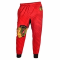Chicago Blackhawks NHL Polyester Mens Jogger Pant by Klew