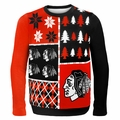 Chicago Blackhawks NHL Ugly Sweater BusyBlock