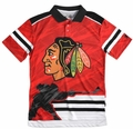 Chicago Blackhawks NHL Polyester Short Sleeve Thematic Polo Shirt