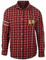 Chicago Blackhawks Wordmark Mens Long Sleeve Flannel Shirt