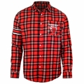 Chicago Bulls NBA Wordmark Mens Long Sleeve Flannel Shirt