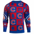 Chicago Cubs 2016 Patches MLB Ugly Crew Neck Sweater by Forever Collectibles