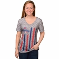 Chicago Cubs 2016 World Series Champions Women's Big Logo Flag Tee