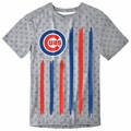 Chicago Cubs Big Logo Flag Tee by Forever Collectibles