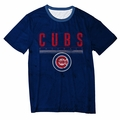 Chicago Cubs Big Logo Half Tone Tee by Forever Collectibles