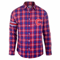 Chicago Cubs Wordmark Mens Long Sleeve Flannel Shirt