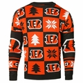 Cincinnati Bengals 2016 Patches NFL Ugly Crew Neck Sweater by Forever Collectibles