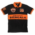 Cincinnati Bengals NFL Cotton Wordmark Rugby Short Sleeve Polo Shirt