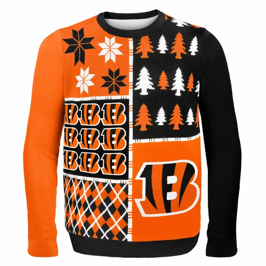 Cincinnati Bengals NFL Ugly Sweater Busy Block