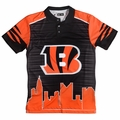 Cincinnati Bengals NFL Polyester Short Sleeve Thematic Polo Shirt